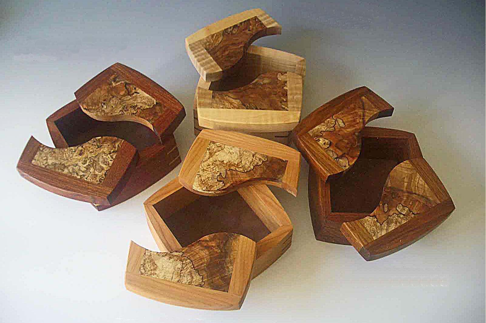 Wooden Decorative Boxes Like The Split Tops  Wooden Boxes  Pinterest  Best Wooden