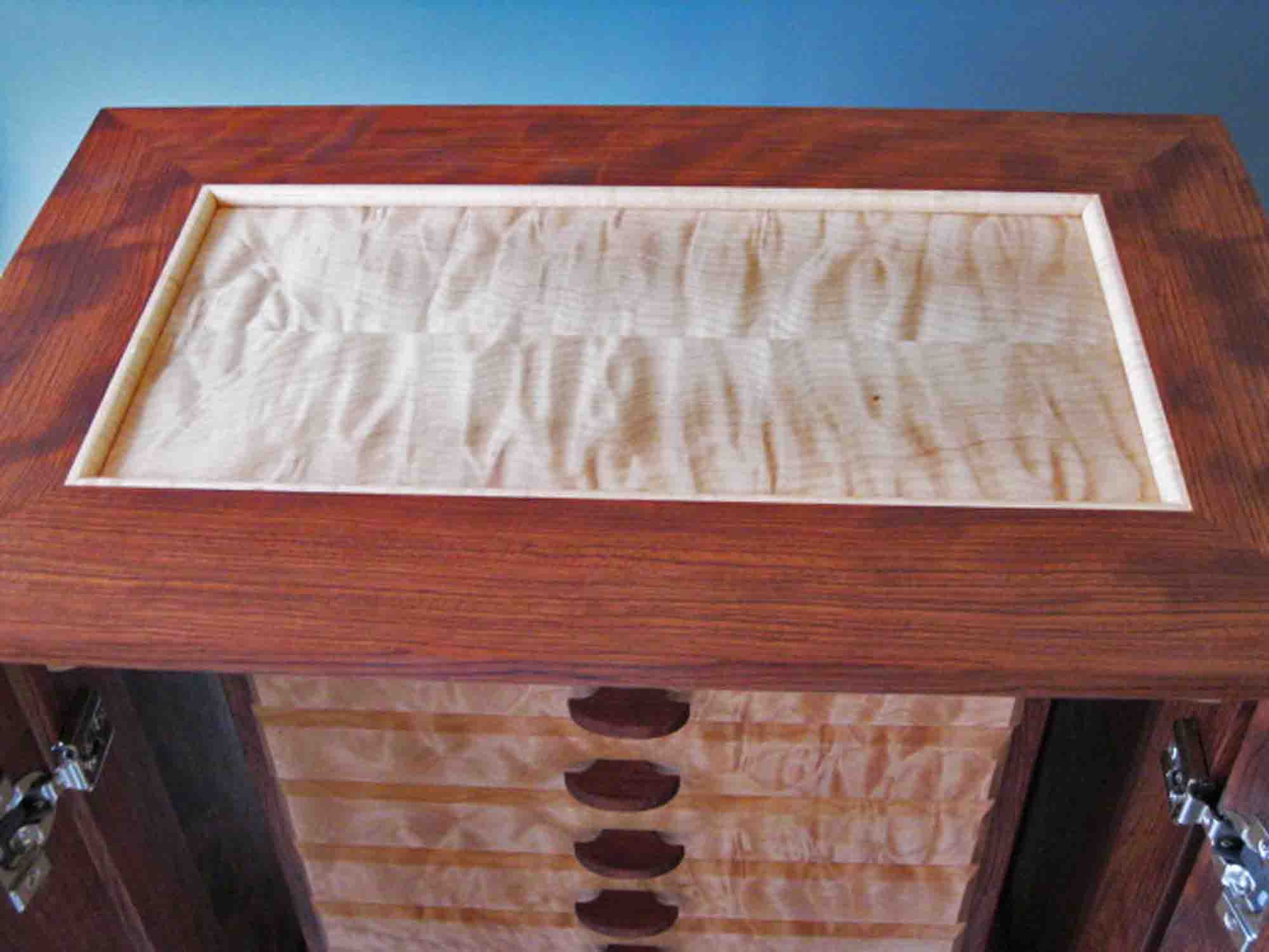 Armoire Jewelry Boxes Handcrafted of Exotic Woods