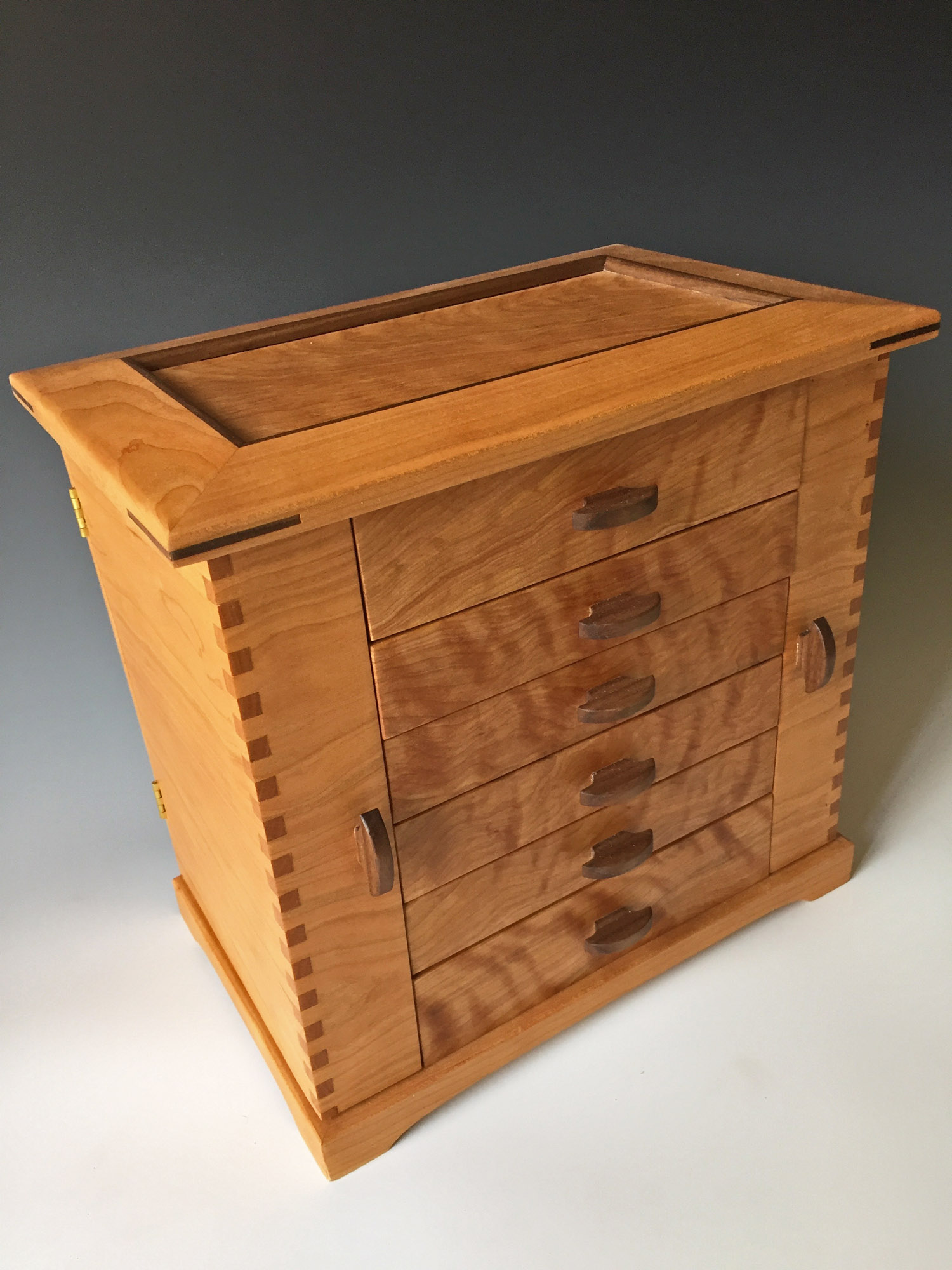 Jewelry Box Made Of Wood Of Handmade Wooden Jewelry Box
