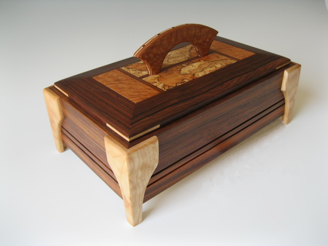 Decorative Wooden Jewelry Boxes : This modern jewelry box is a and decorative